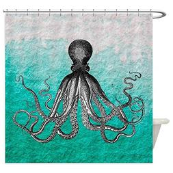 CafePress Ombre Vintage Nautical Octopus Wate Decorative Fab