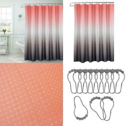 Ombre Waffle Weave 70 in. W x 72 in. L Shower Curtain with B