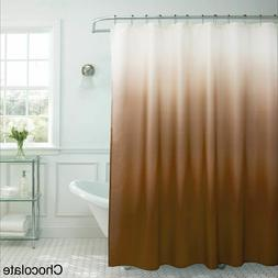 Creative Home Ideas Ombre Waffle Weave Shower Curtain chocol