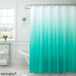 Creative Home Ideas Ombre Waffle Weave Shower Curtain w/ 12