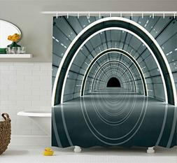 Ambesonne Outer Space Decor Shower Curtain, Science Fiction