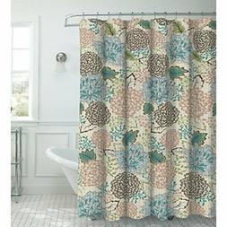 Creative Home Ideas Faux Linen 13-Piece Shower Curtain with