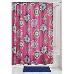 "InterDesign Padma Medallion Fabric Shower Curtain - 72"" x 72"