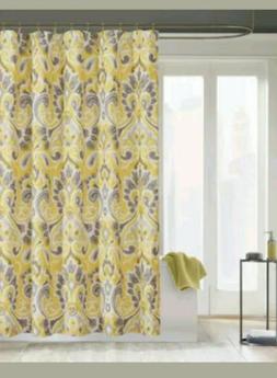 Madison Park Palermo Shower Curtain Yellow Multi 72 X 72 ~ N