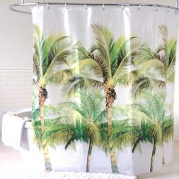 """Palm Tree EVA PEVA Shower Curtain 70""""x72"""" Green - Splash Hom"""