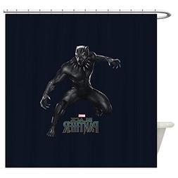 CafePress - Black Panther Pose - Decorative Fabric Shower Cu