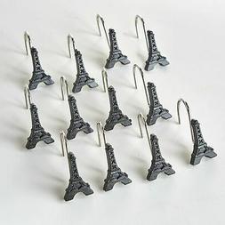 Paris Shower Curtain Hooks with Decorative Eiffel Towers - S