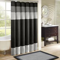 "Madison Park MP70-246 Amherst Shower Curtain 72x72"" black,72"