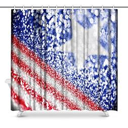 InterestPrint Patriotic American Flag Red White and Blue Gli
