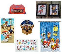 Paw Patrol Bathroom Accessories Shower Curtain Towels Stool