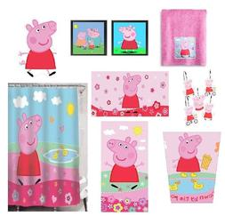 Peppa Pig Bathroom Accessories Shower Curtain Towels Waste B
