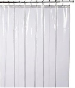 LiBa PEVA Antimicrobial PVC Free Shower Curtain Liner,  clea