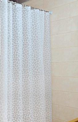 Sfoothome PEVA Bath Curtain Waterproof Mildew-free Shower Cu