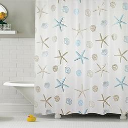 Cryseam PEVA% Mildew Resistant Fabric Shower Curtain Waterpr