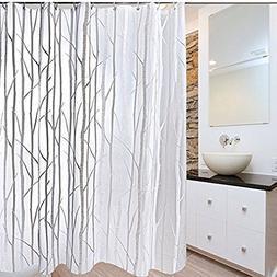 Seavish PEVA Shower Curtain Liner, Clear Branch Pattern Mild