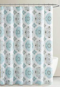 PEVA Shower Curtain Liner Odorless, PVC  Free Blue Gray Whit