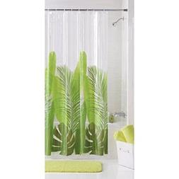 Photoreal Modern Tropical Leaf Vinyl Shower Curtain PEVA