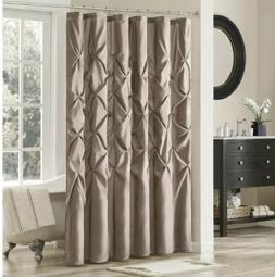 Madison Park Piedmont Pieced Faux Dupioni Shower Curtain Tau