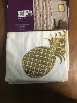 Free Shipping. Lush Decor Pineapple Toss Shower Curtain, 72""