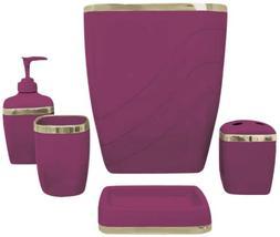 Carnation Home Fashions Plastic 5 Piece Bath Accessory Set