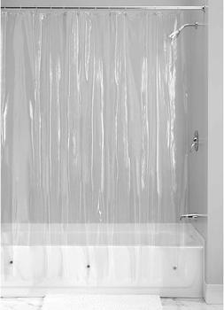 Plastic Shower Curtain Bathroom Decor Clear Liner 108x72 Wat