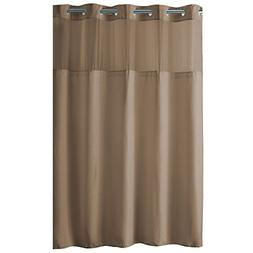 Hookless High Point PEVA Lined Shower Curtain, Taupe