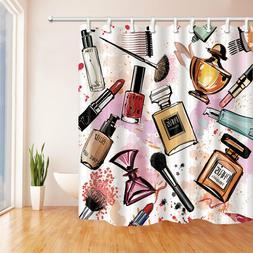 Polyester fabric Shower Curtain Fashion Cosmetics Perfume De