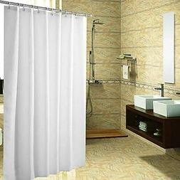 YUUNITY Polyester Fabric Shower Curtain with Hooks Waterproo