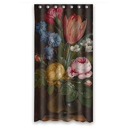 Eyeselect Polyester Famous Classic Art Painting Flowers Blos