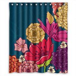 Eyeselect Polyester Flower Bathroom Curtains Width X Height