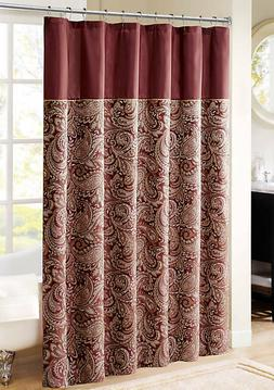 Madison Park 100 Percent Polyester Jacquard Shower Curtain,