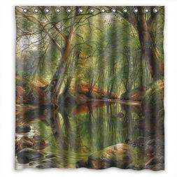 SUNSMILES Polyester Beautiful Scenery Landscape Painting Sho