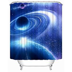 Moldiy Polyester Shower Curtain with Printed 3D Magic/Myster