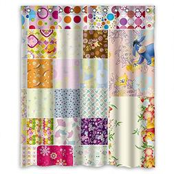 TonyLegner Polyester Shower Curtains Of Color Block For Husb