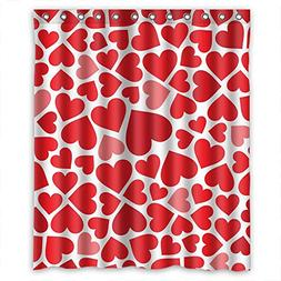 Polyester Shower Curtains, Love, Size Width X Height / 60 X