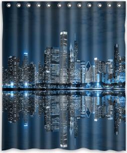 """Popular design Chicago skyline Shower Curtain 60"""" x 72""""Gener"""