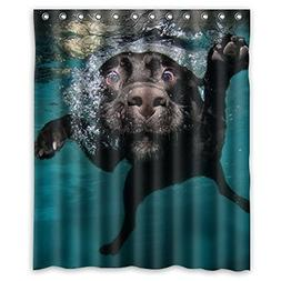 Popular funny lovely Labrador dog Bathroom Shower Curtain, S