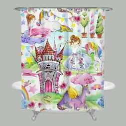 Princess Shower Curtain girly shower curtains unicorn shower