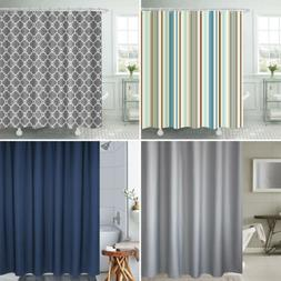 Printed Bathroom Shower Curtain Liner Set Heavy Duty Waterpr