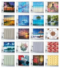 printed polyester shower curtain for bathroom 70