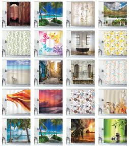 Ambesonne Printed Shower Curtain in 3 Sizes Waterproof Fabri