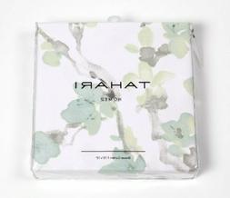 Tahari Home Printemps Fabric Shower Curtain Green Blue Green