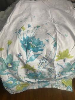Tahari Home Printemps Watercolor Shower Curtain Teal Aqua Li