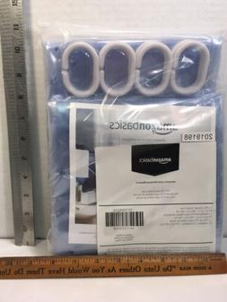 "PVC SHOWER CURTAIN LINER 72""x72"" Amazon Basics NIB Blue"