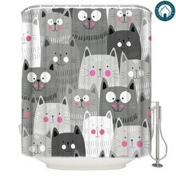 Qualibuy House Store Cartoon Grey Cat Fabric <font><b>Show