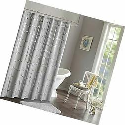 Intelligent Design Raina Printed Metallic Shower Curtain 72x