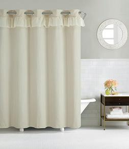 Hookless RBH29FC108 Waterfall Shower Curtain with PEVA Liner