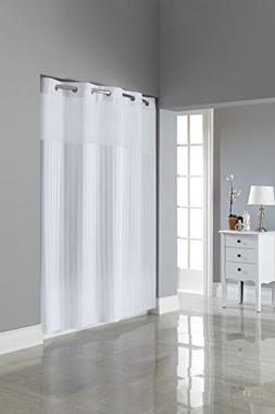 Hookless RBH35MY053 Victorian Satin Stripe Shower Curtain wi