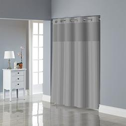 Hookless RBH35MY054 Victorian Satin Stripe Shower Curtain wi