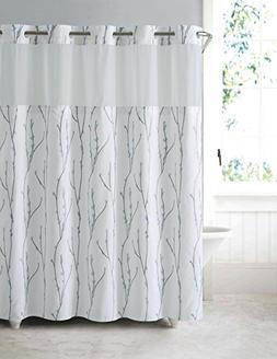 Hookless RBH40MY079 Cherry Bloom Shower Curtain with PEVA li